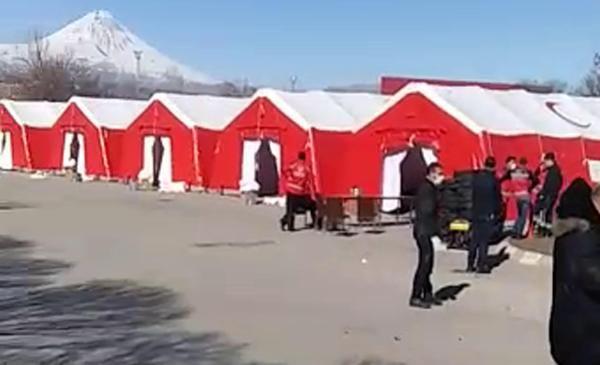 Gürbulak Gümrük Kapısı'nda koronavirüse karşı sahra hastanesi kuruluyor -1