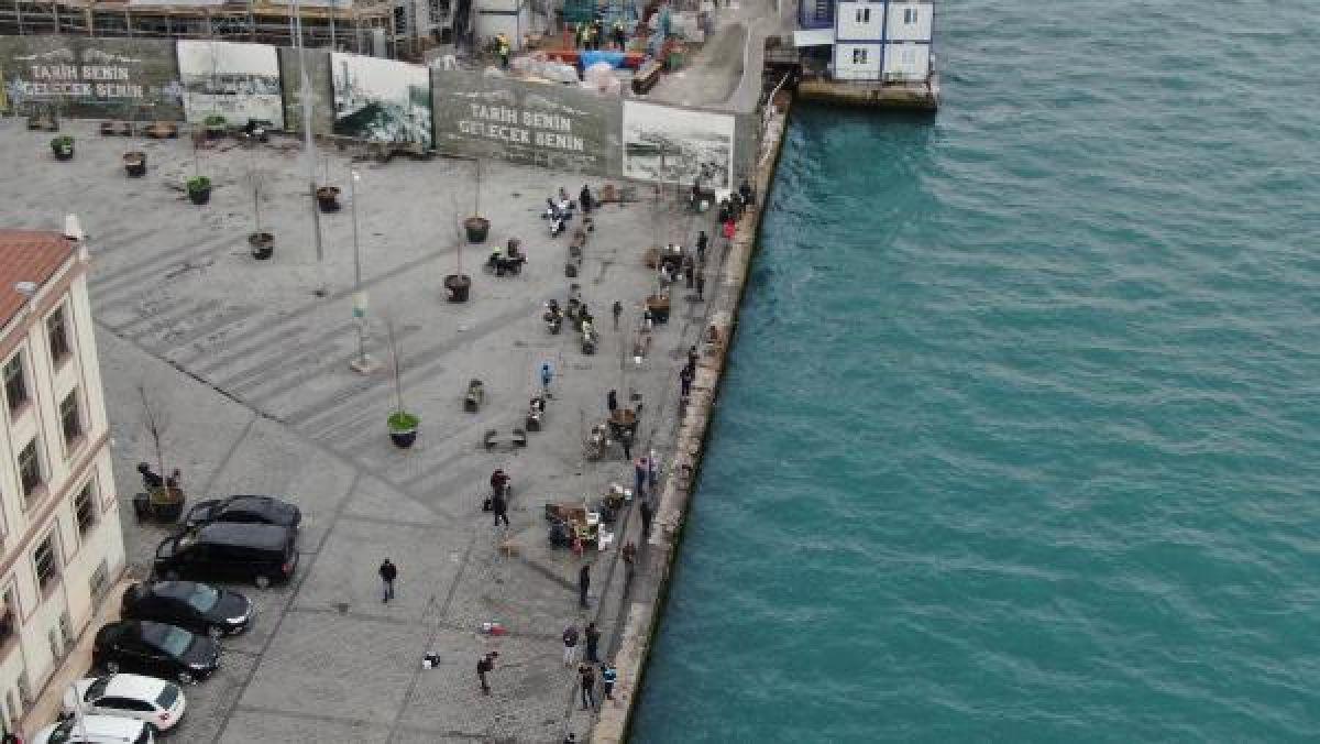 Üsküdar'da yasaklandı ancak Karaköy'de manzara değişmedi -3
