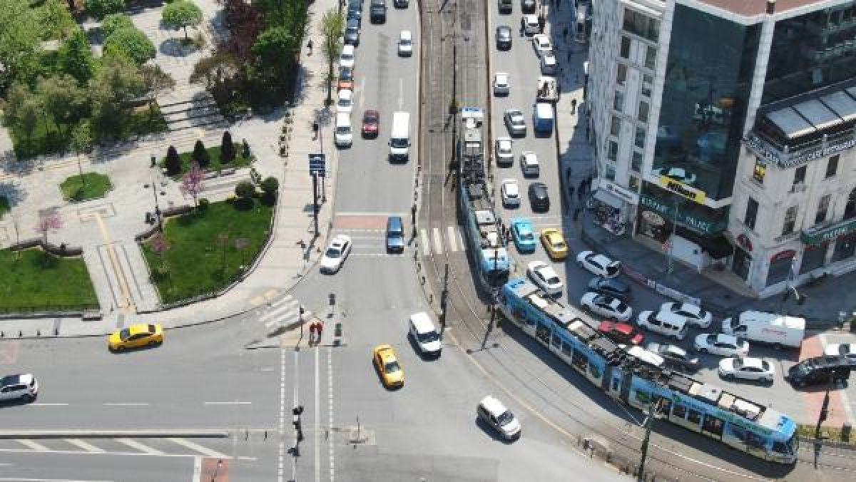 Eminönü'ndeki yoğunluk havadan fotoğraflandı -2