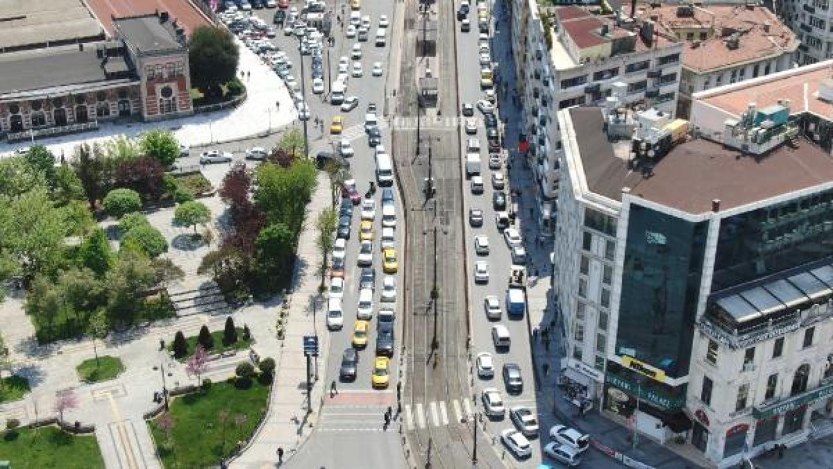 Eminönü'ndeki yoğunluk havadan fotoğraflandı -4