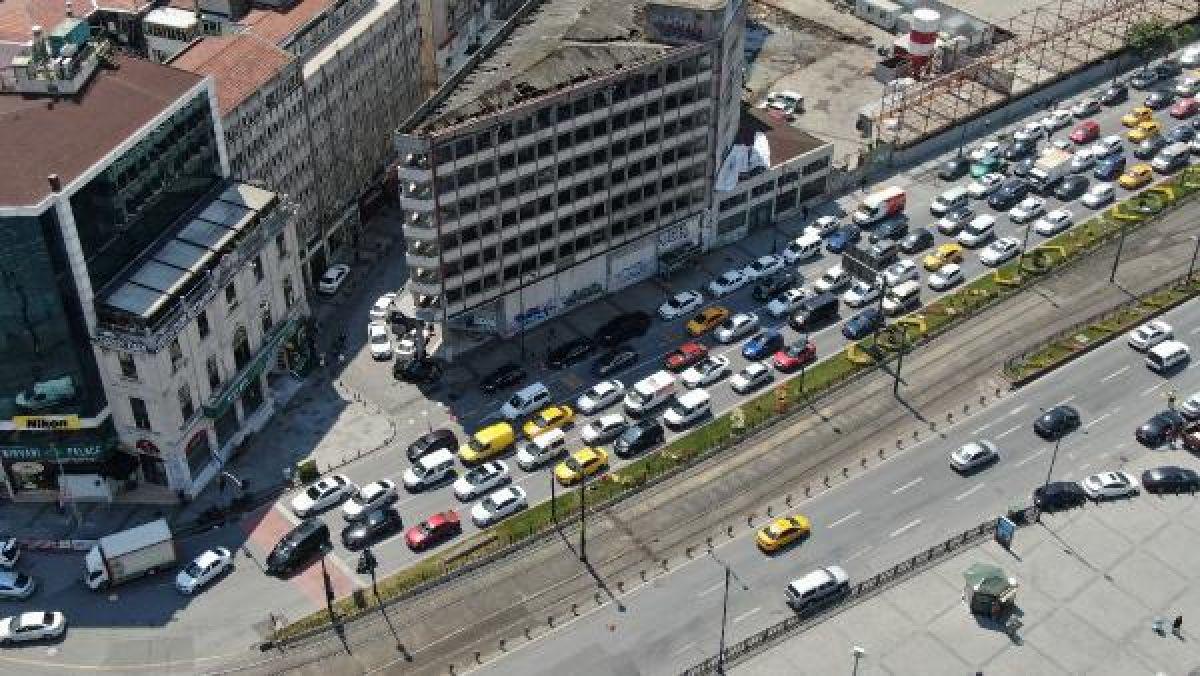 Eminönü'ndeki yoğunluk havadan fotoğraflandı -8