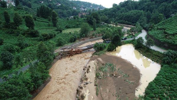 Rize'deki yağışlarda son 91 yılın rekoru kırıldı #11