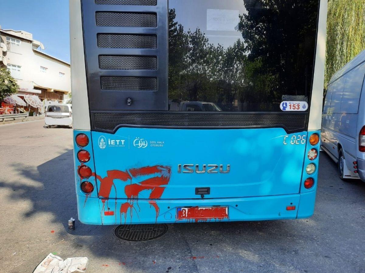 Ümraniye de otobüse alınmayan kadın terör estirdi #1