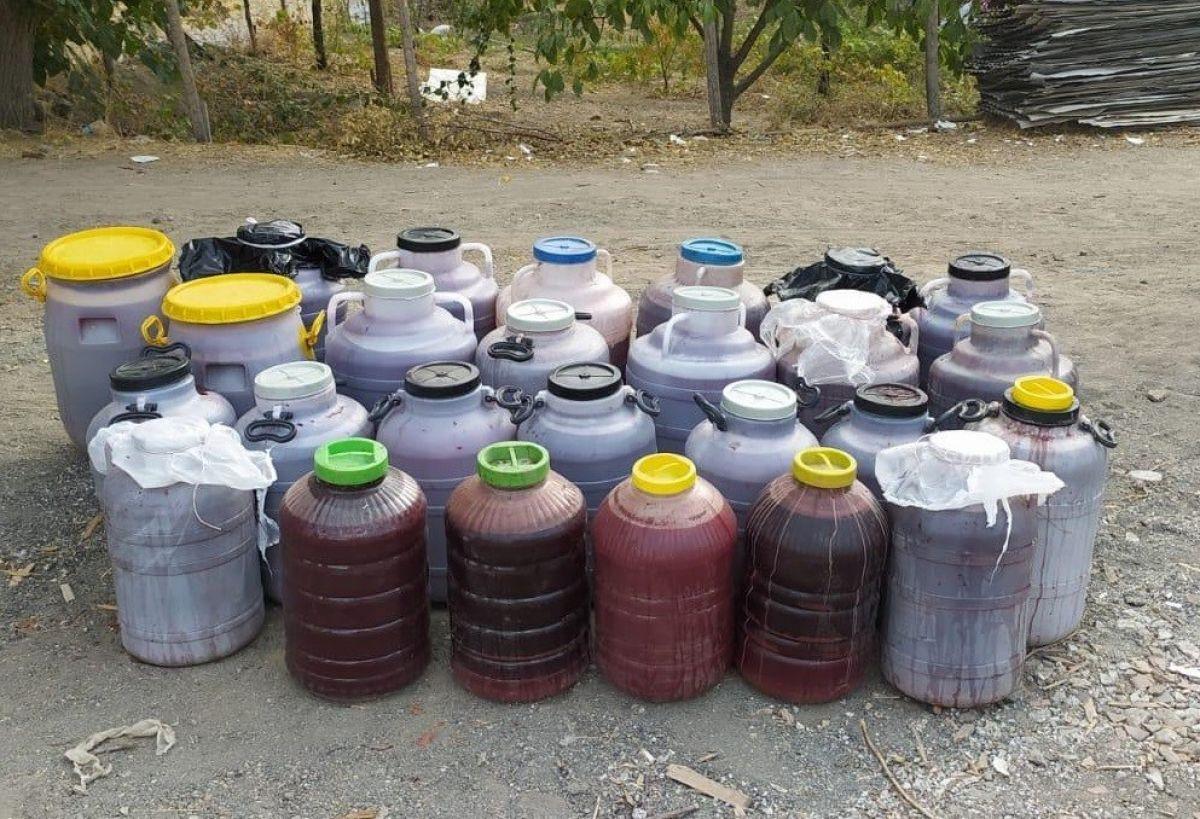 Elazığ'da 1 tondan fazla kaçak şarap ele geçirildi #2