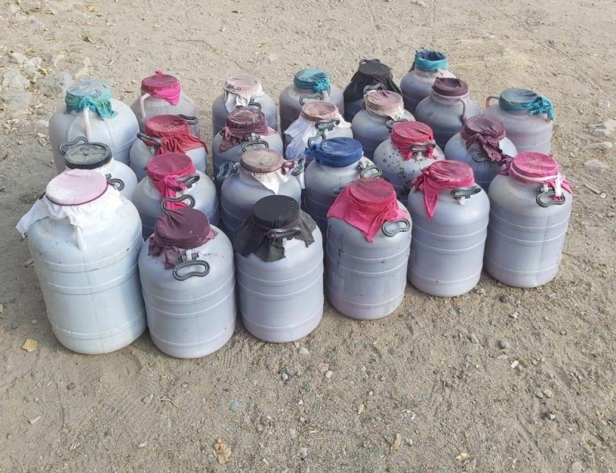 Elazığ'da 1 tondan fazla kaçak şarap ele geçirildi #1