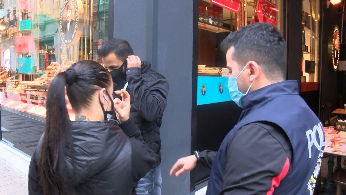 İstiklal Caddesi nde maske denetimi: Maskeye inanmıyorum #2