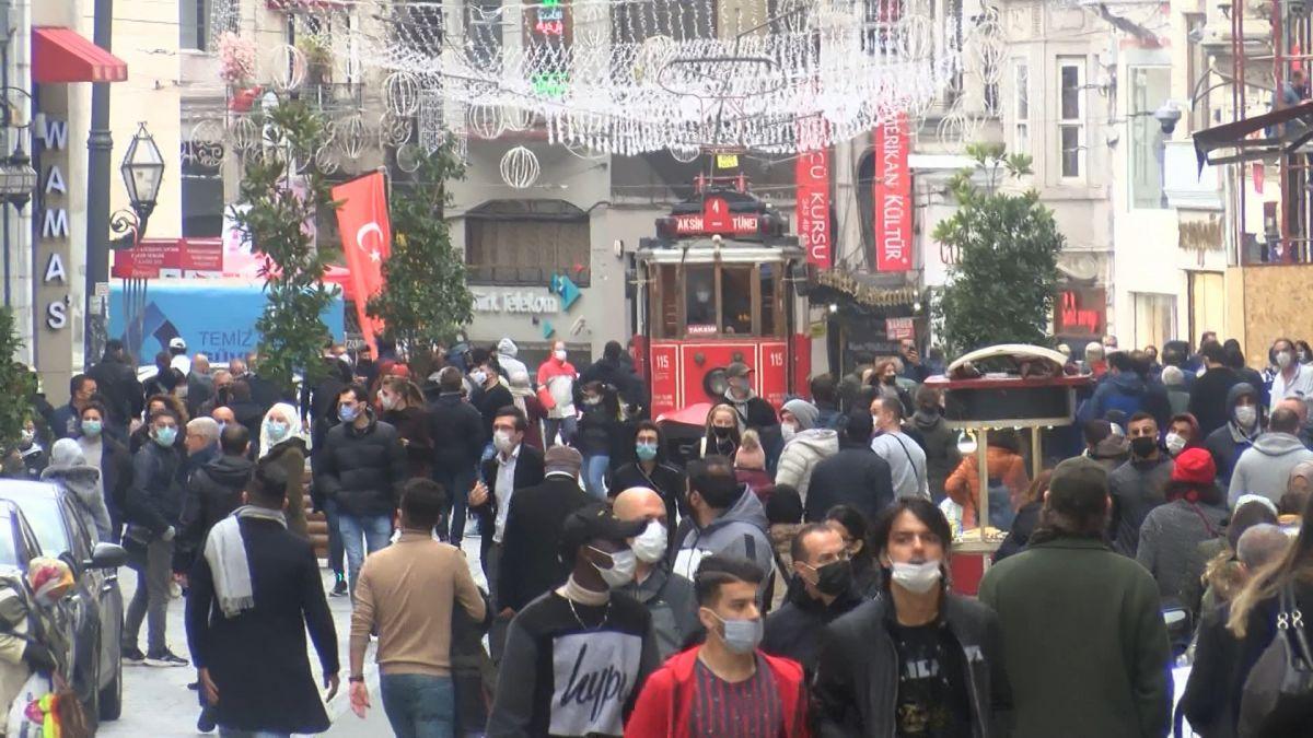 İstiklal Caddesi nde maske denetimi: Maskeye inanmıyorum #3