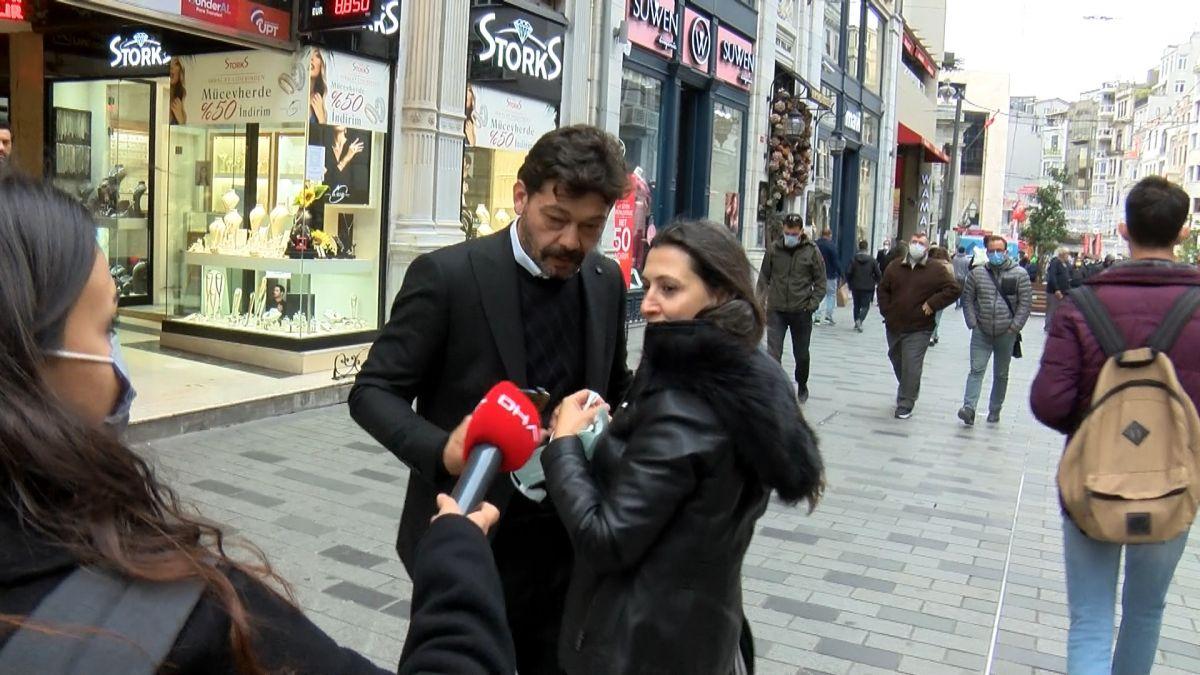 İstiklal Caddesi nde maske denetimi: Maskeye inanmıyorum #4