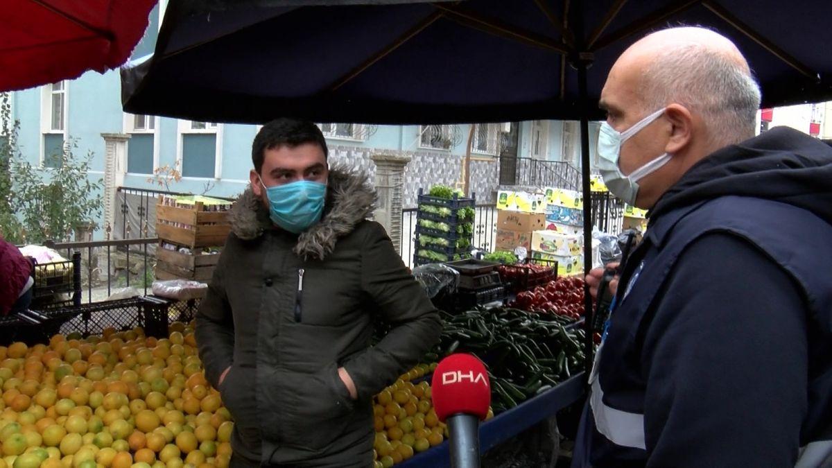 Samsun da pazar esnafından, maskesini düzgün takmayanlara ürün satmama kararı #6