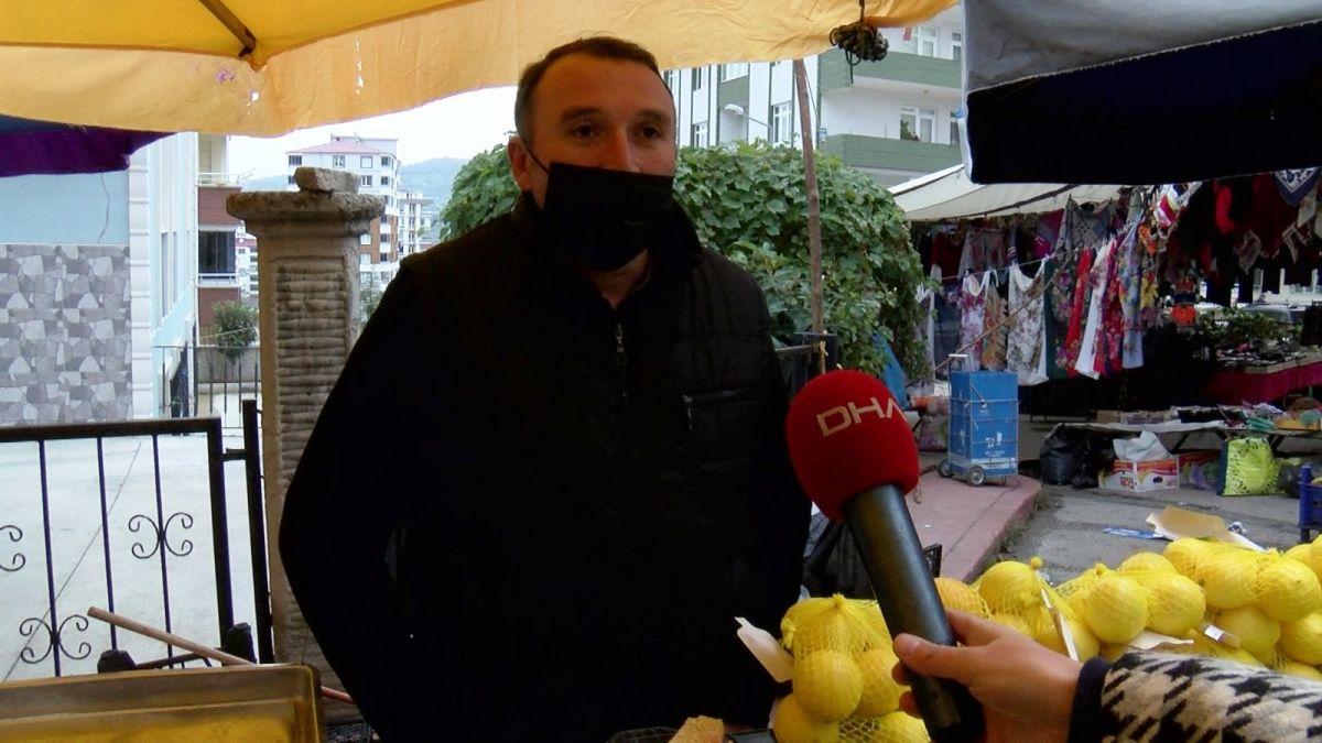 Samsun da pazar esnafından, maskesini düzgün takmayanlara ürün satmama kararı #9