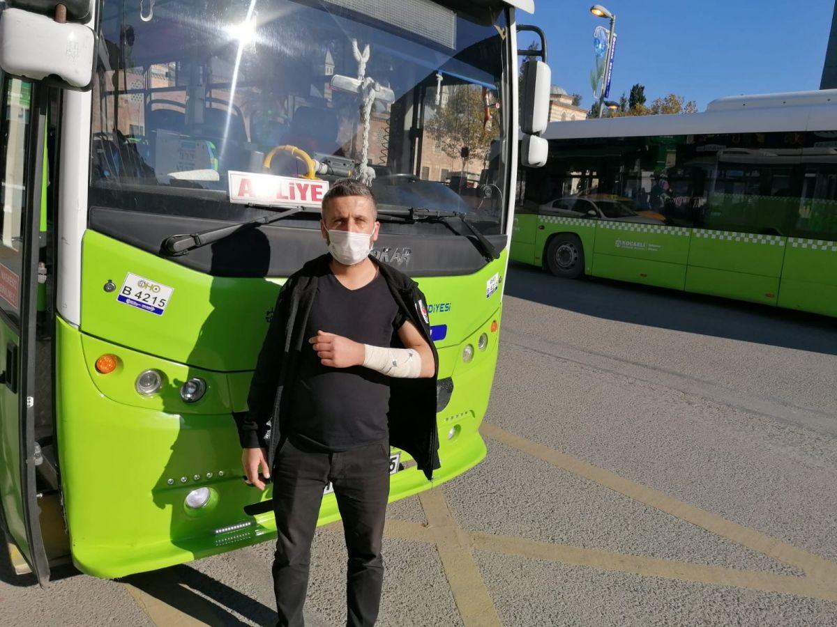 Kocaeli de halk otobüsü şoförüne copla saldırdı #6