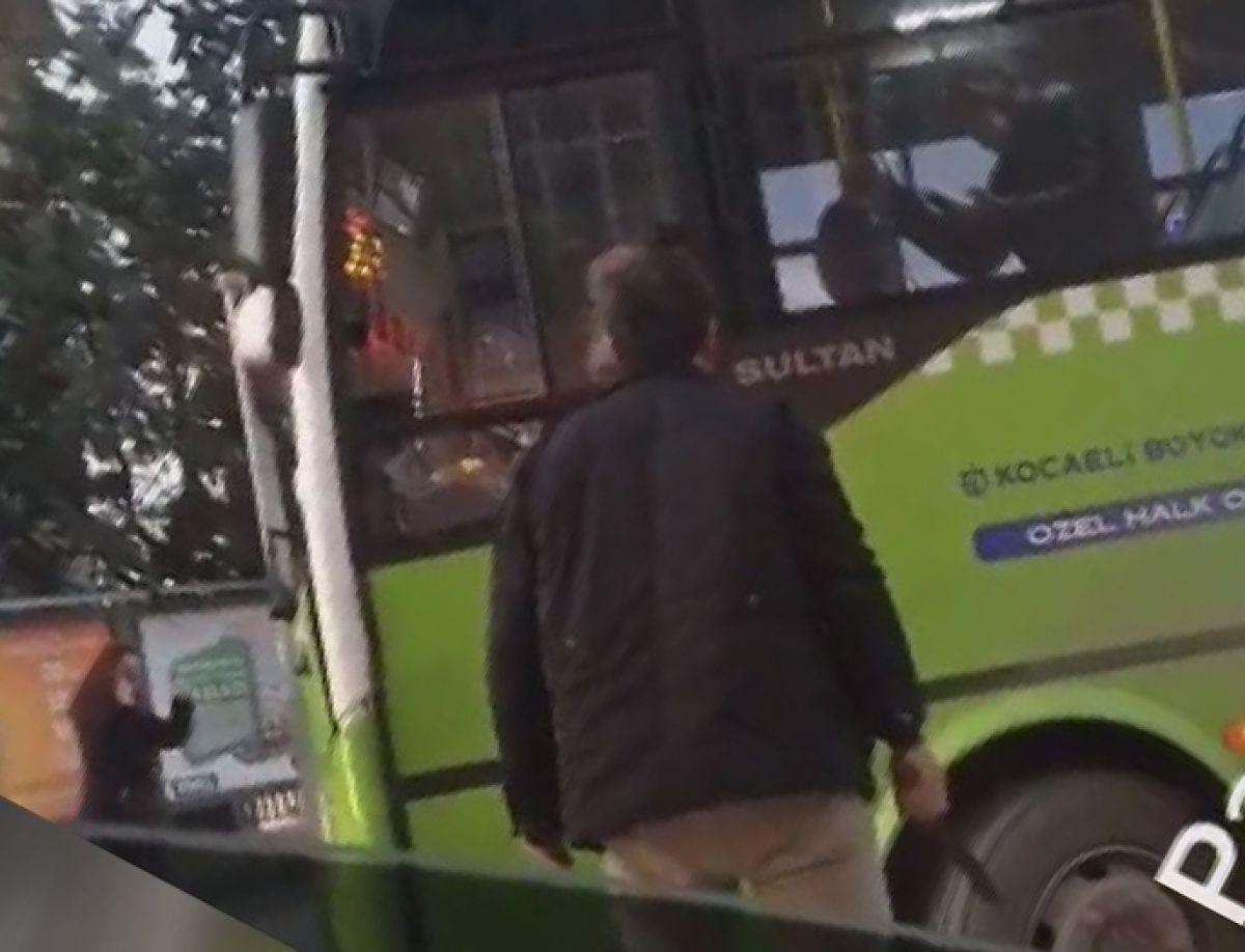 Kocaeli de halk otobüsü şoförüne copla saldırdı #3
