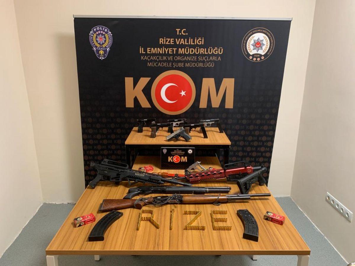 Rize de 2 kaçak silah atölyesine polis baskını #2