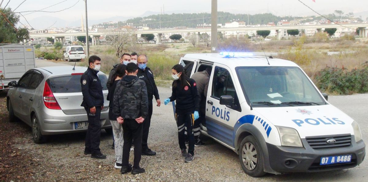 Antalya da eşini ve çocuklarını dövünce gözaltına alındı #2