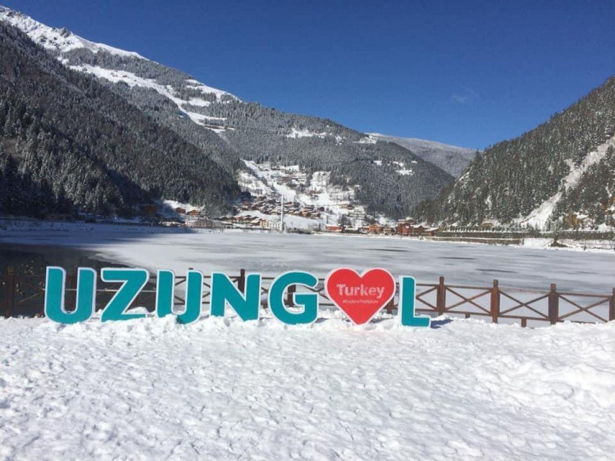Trabzon a yağan karla birlikte, Uzungöl buz tuttu #8