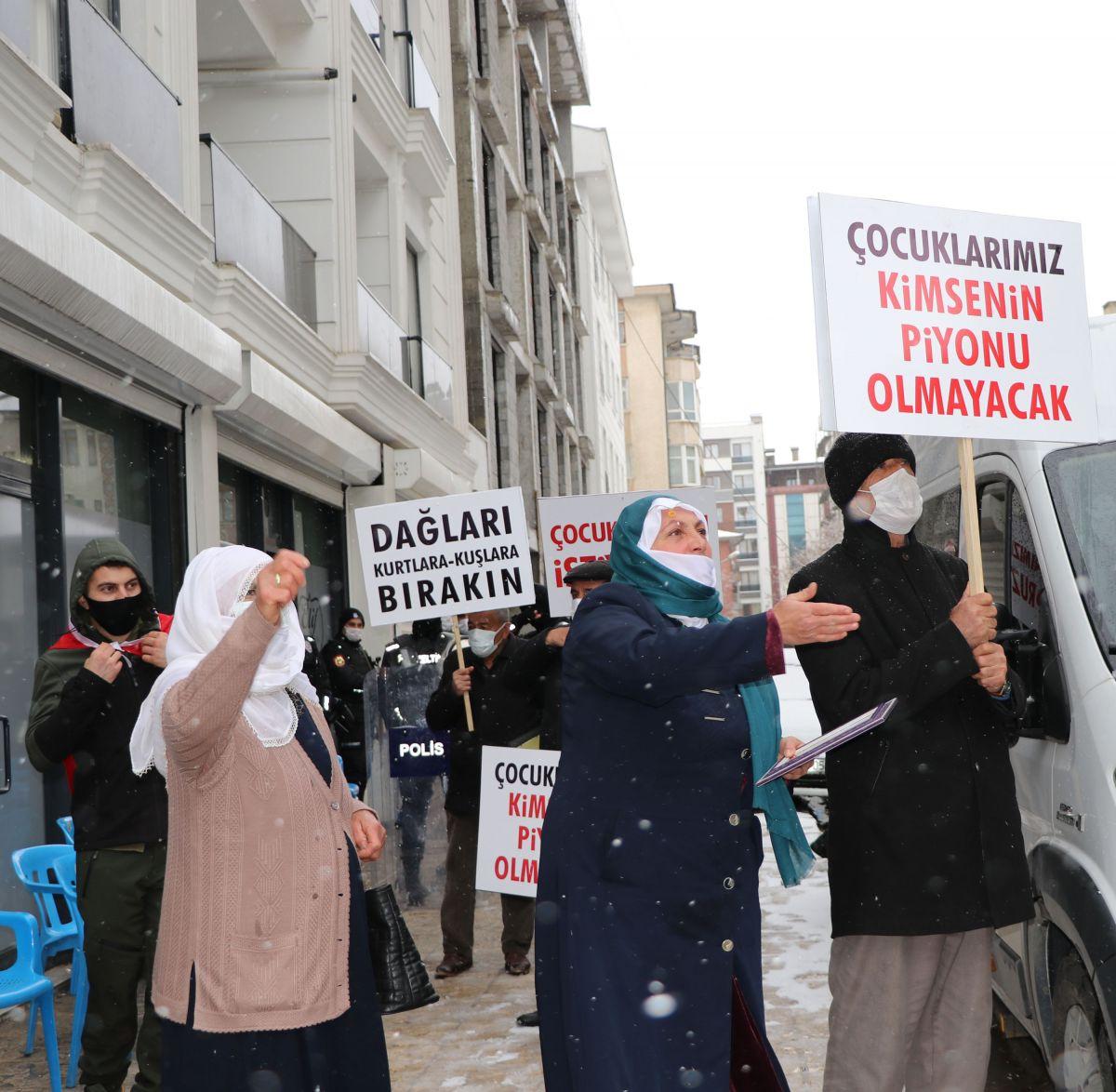 Van da kar yağışına rağmen evlat eylemini HDP liler engellemeye çalıştı #8