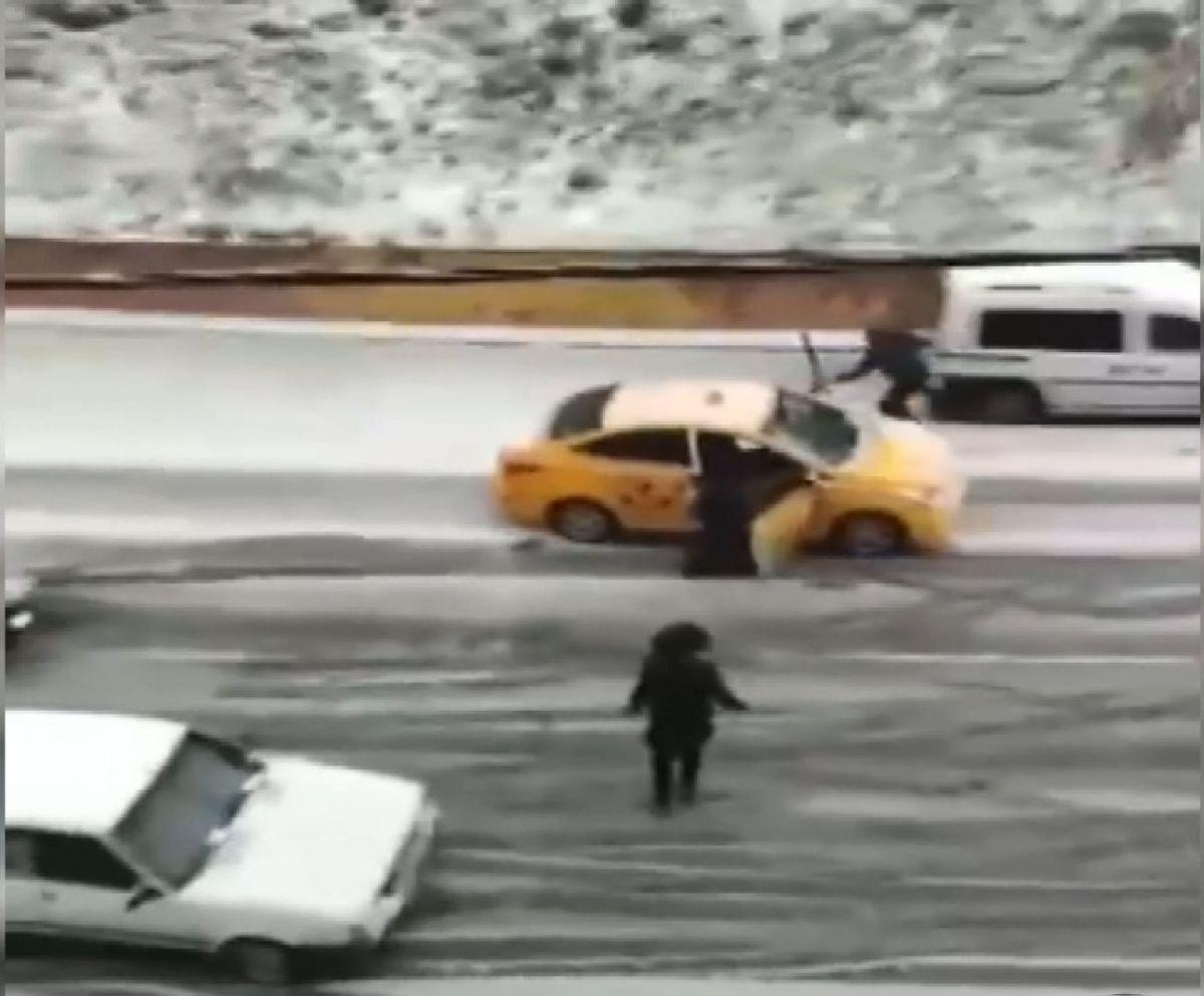 taksi kar kaza