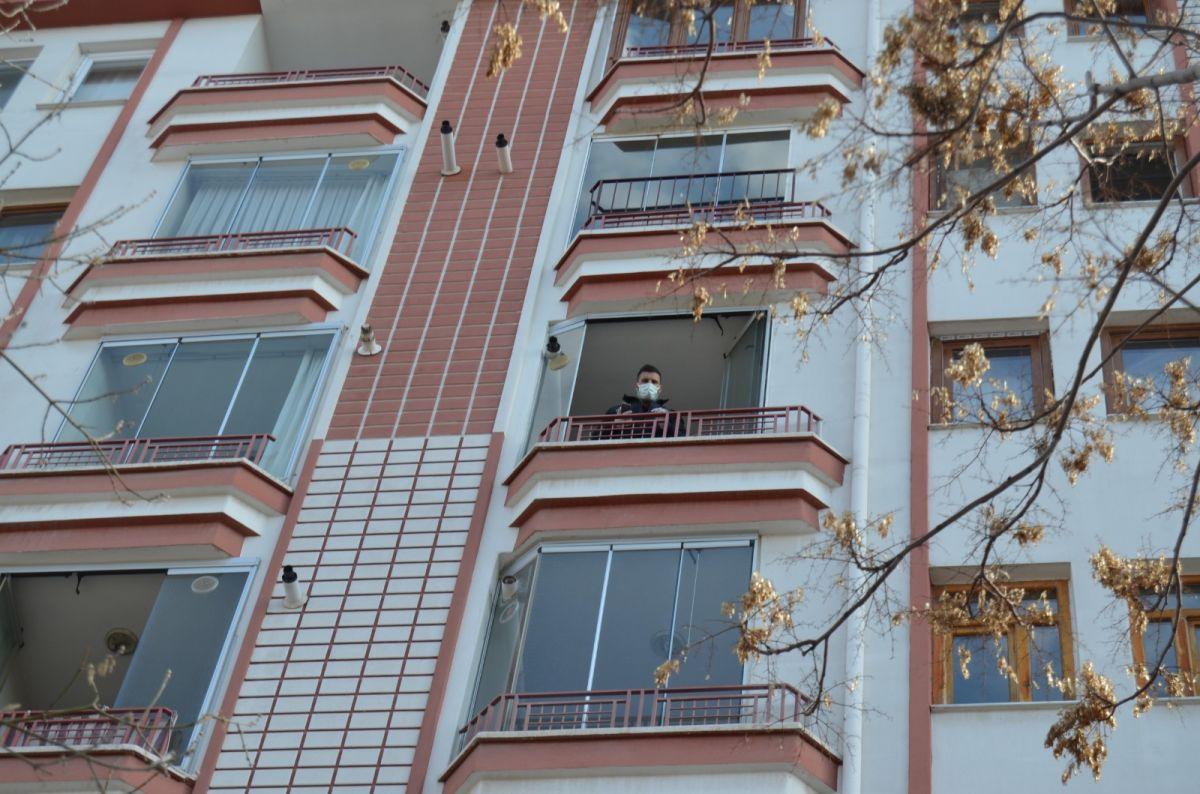 Aksaray da yaşlı adam dengesini kaybedip balkondan düştü #8