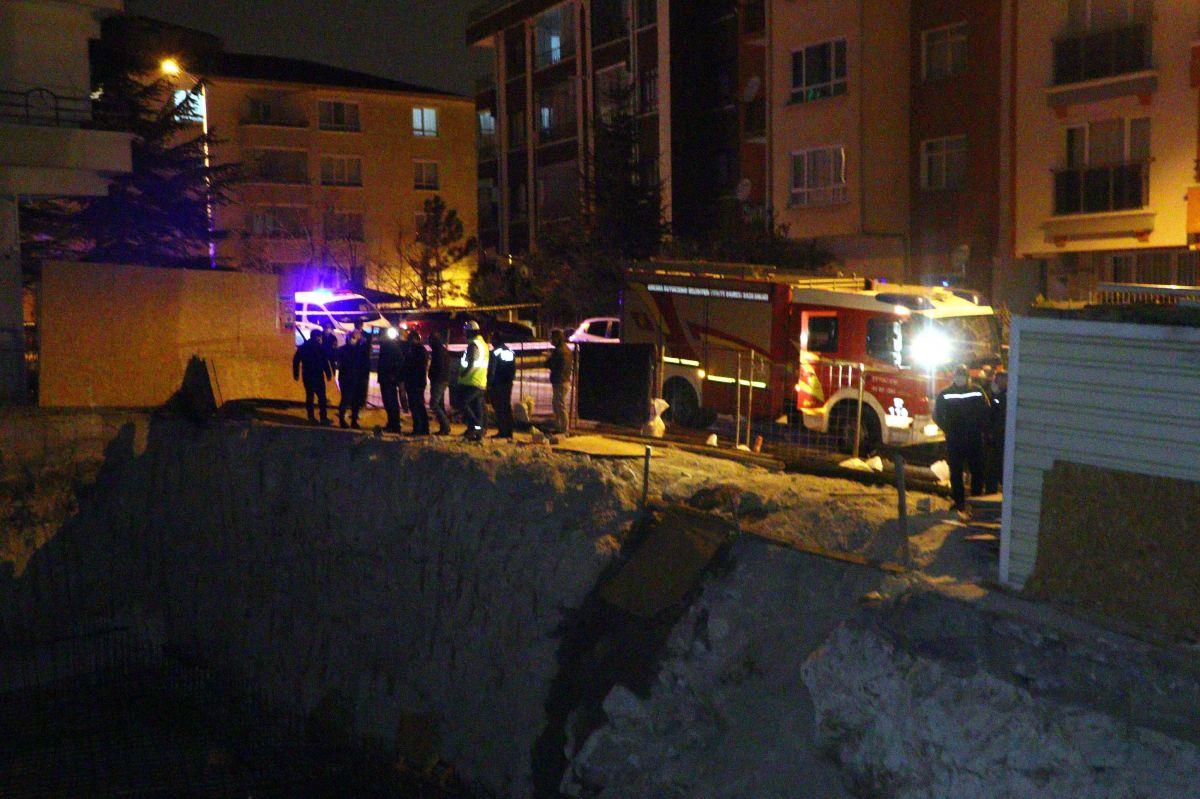 Ankara da toprak kayması nedeniyle bir apartman tahliye edildi #2