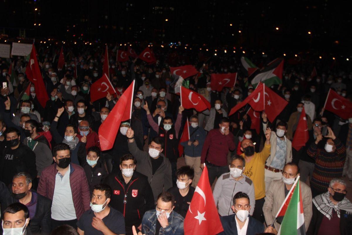 Türkiye nin dört bir yanında Kudüs ve Filistin için destek gösterileri #25