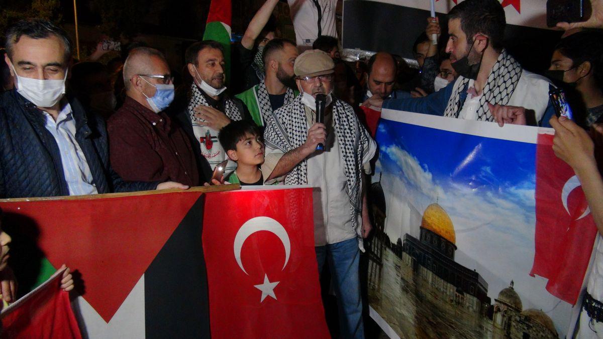 Türkiye nin dört bir yanında Kudüs ve Filistin için destek gösterileri #20