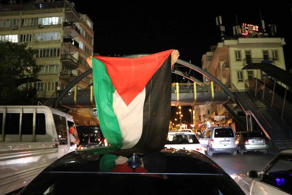 Türkiye nin dört bir yanında Kudüs ve Filistin için destek gösterileri #7