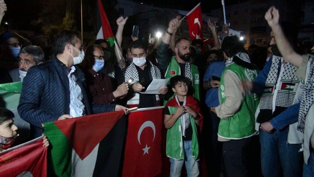 Türkiye nin dört bir yanında Kudüs ve Filistin için destek gösterileri #15