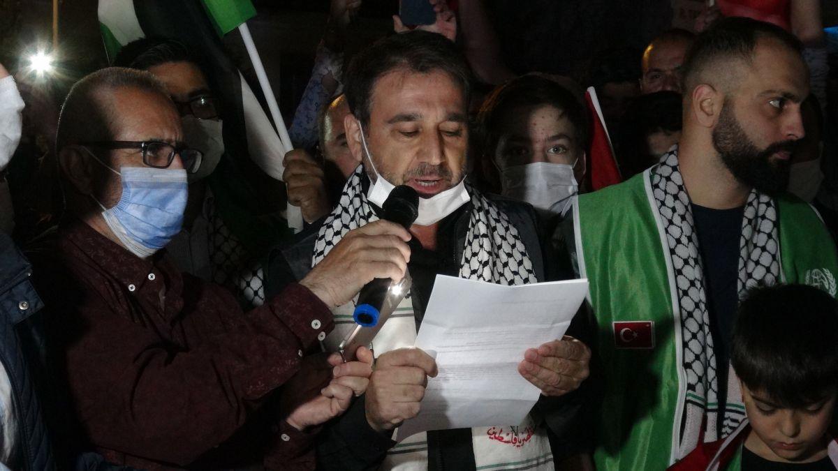 Türkiye nin dört bir yanında Kudüs ve Filistin için destek gösterileri #18