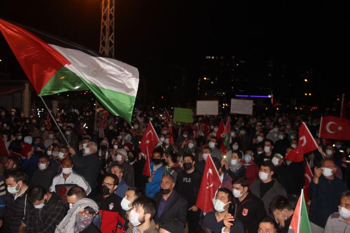 Türkiye nin dört bir yanında Kudüs ve Filistin için destek gösterileri #26