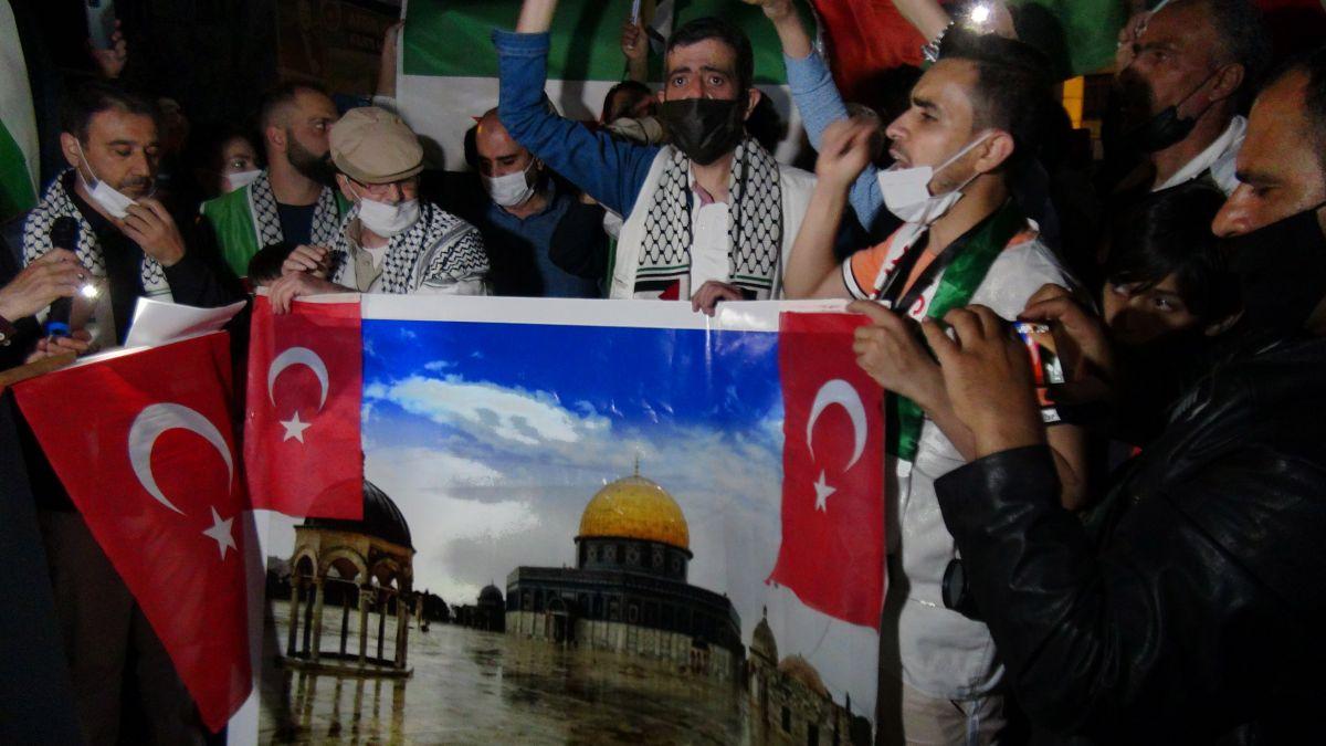 Türkiye nin dört bir yanında Kudüs ve Filistin için destek gösterileri #17