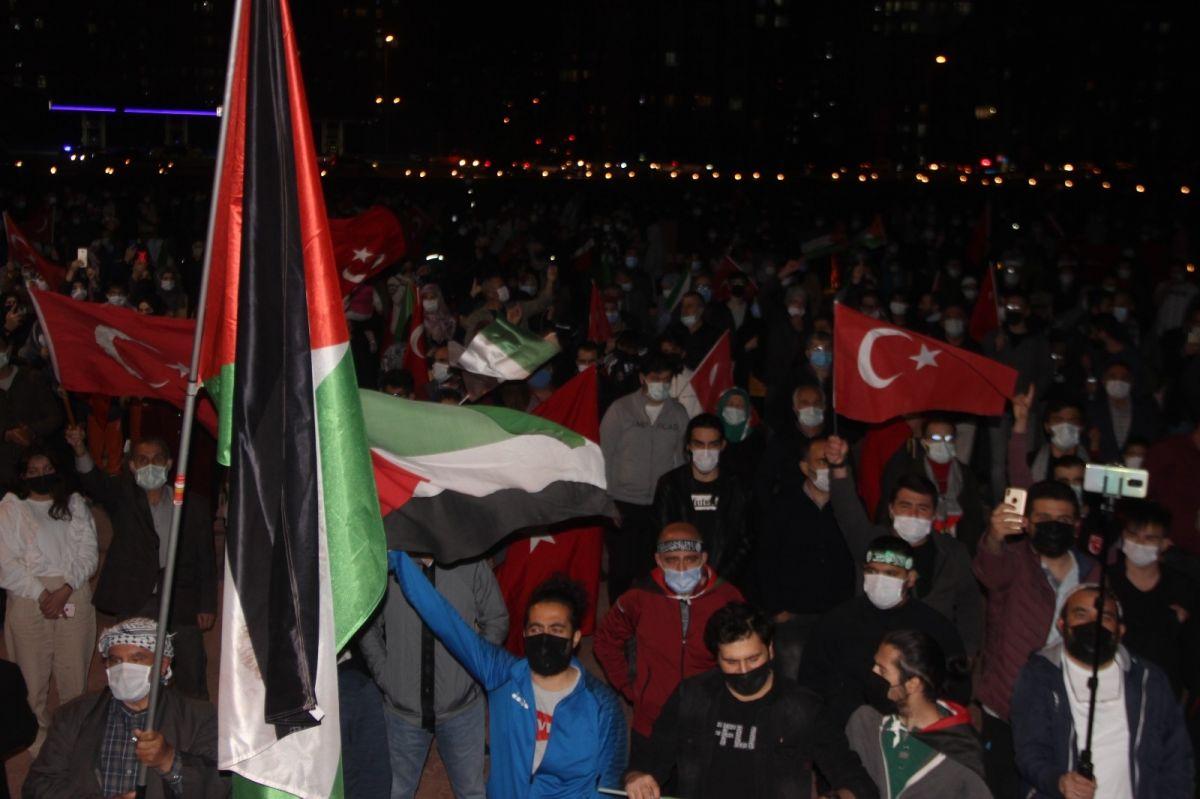 Türkiye nin dört bir yanında Kudüs ve Filistin için destek gösterileri #24