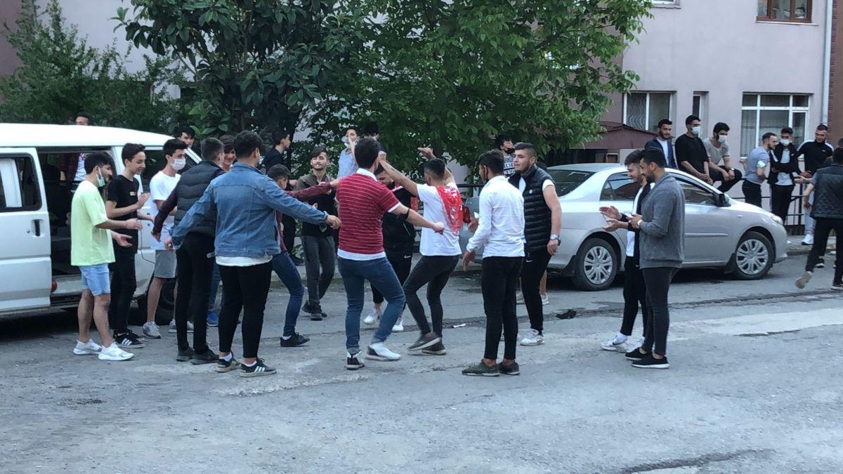Zonguldak ta maske ve sosyal mesafesiz asker uğurlaması #5