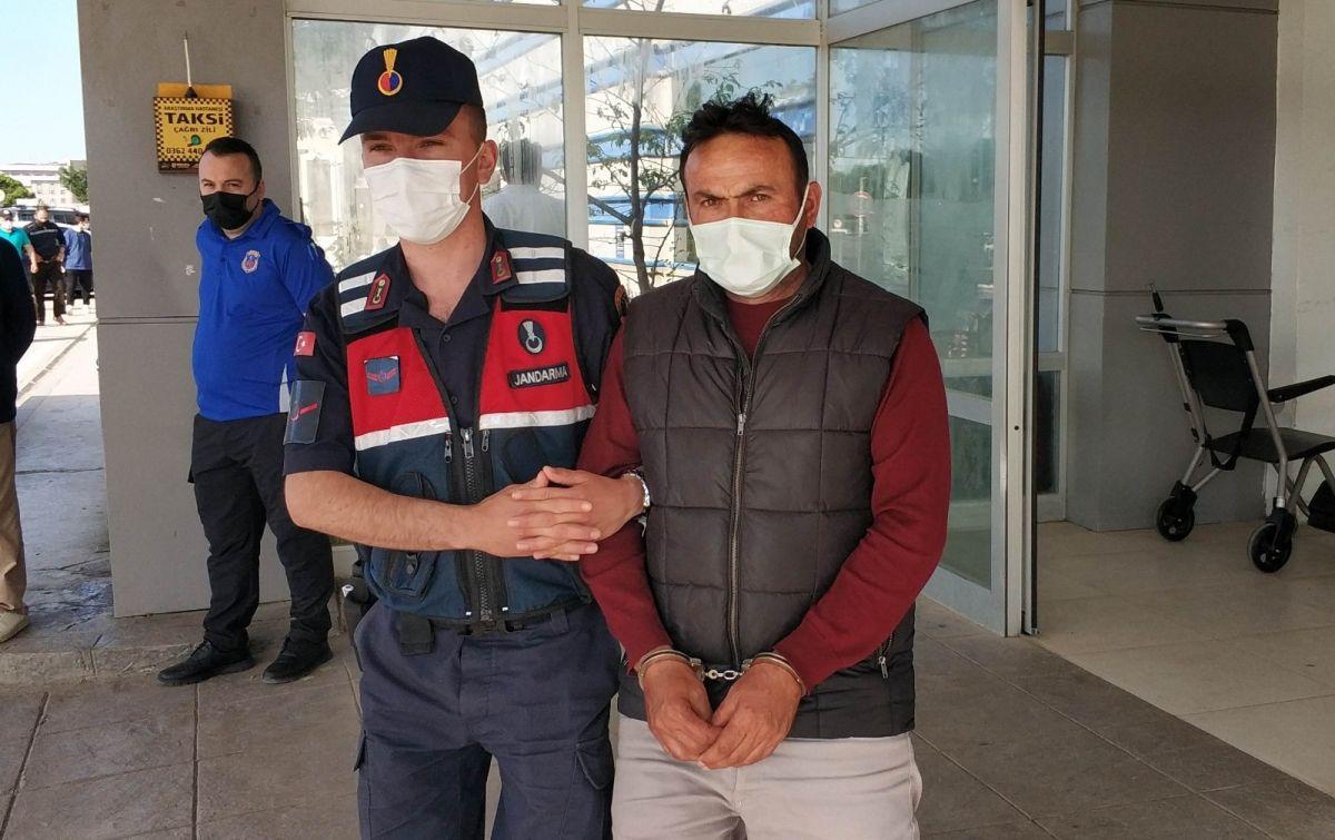 Samsun da tutuklanan zanlı, koronavirüs testine götürülürken tehdit etti #1