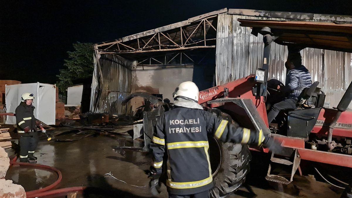 Gebze de kereste fabrikasında yangın meydana geldi #5
