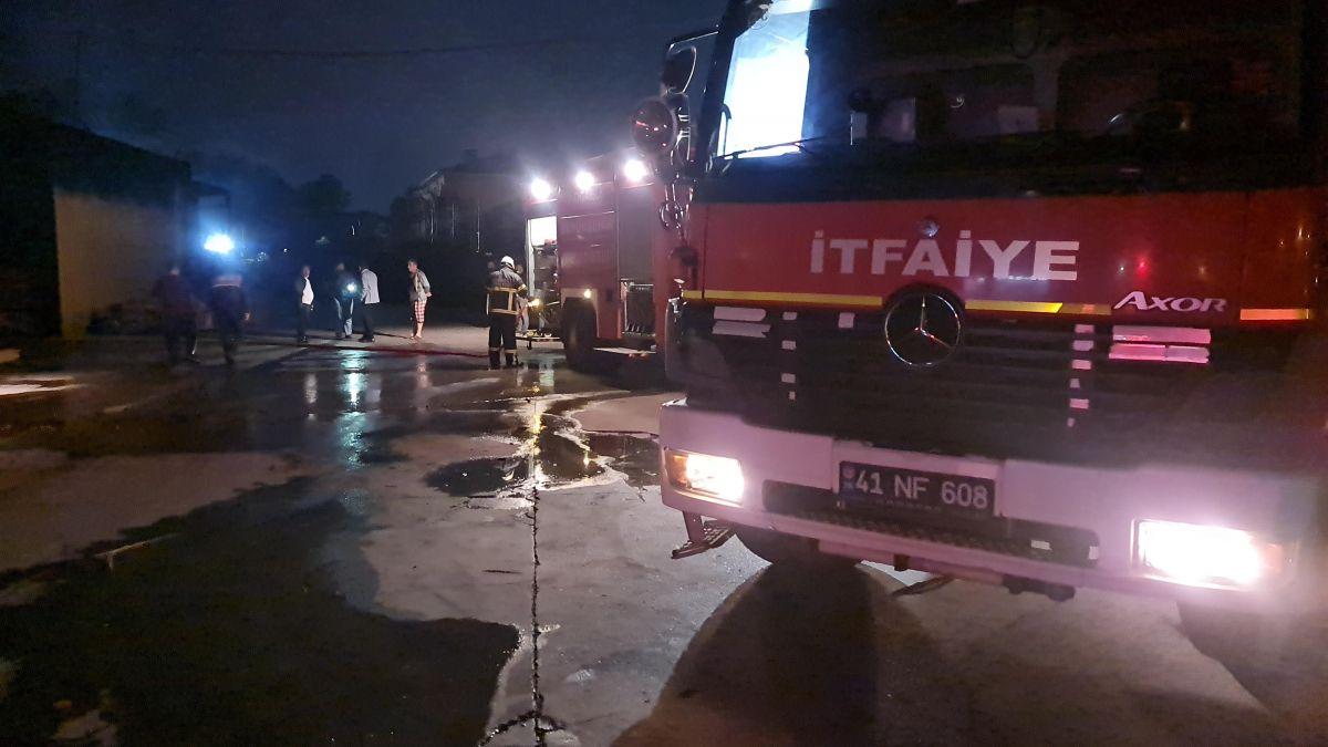Gebze de kereste fabrikasında yangın meydana geldi #4