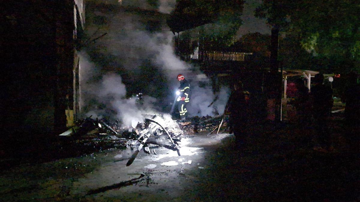Gebze de kereste fabrikasında yangın meydana geldi #2