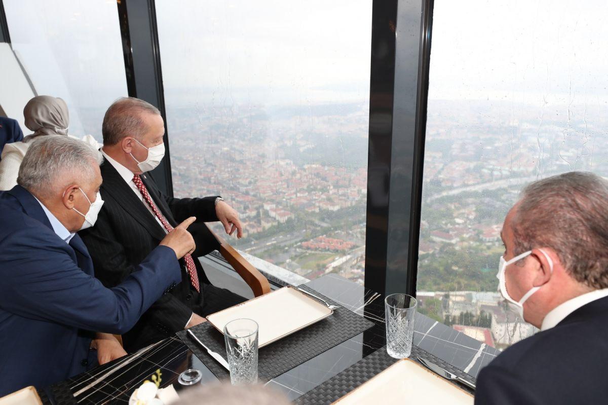 Cumhurbaşkanı Erdoğan, Çamlıca Kulesi ni gezdi #3