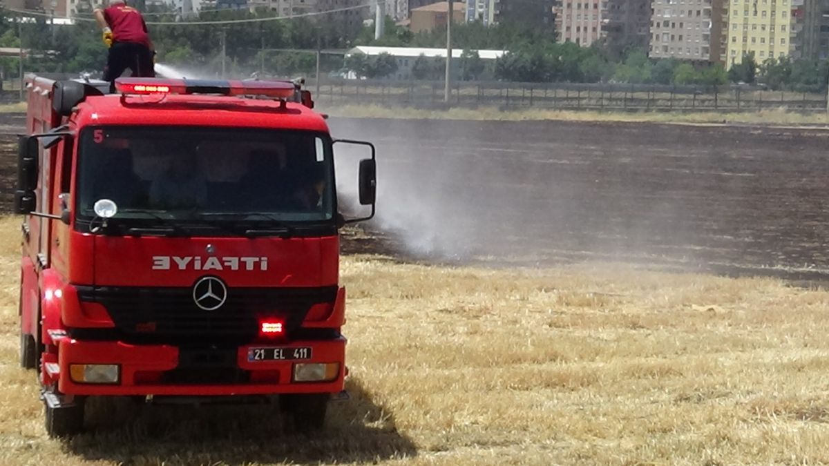 Diyarbakır daki anız yangını kontrol altına alındı #4