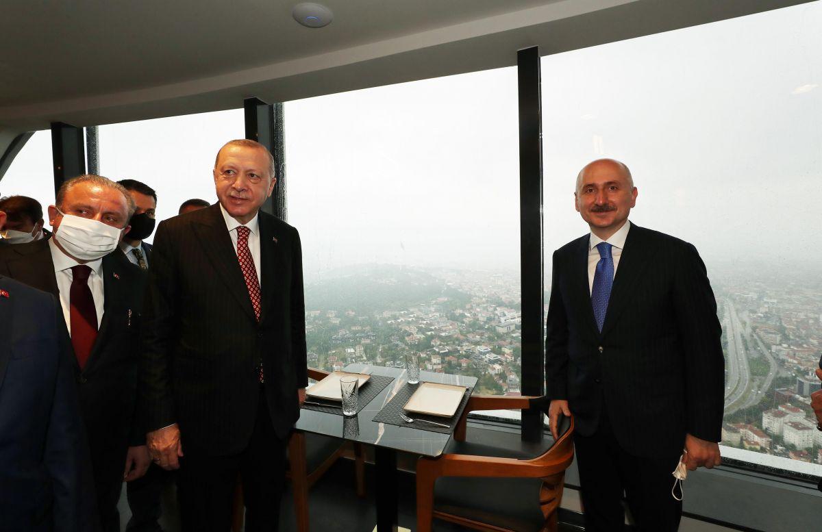 Cumhurbaşkanı Erdoğan, Çamlıca Kulesi ni gezdi #7