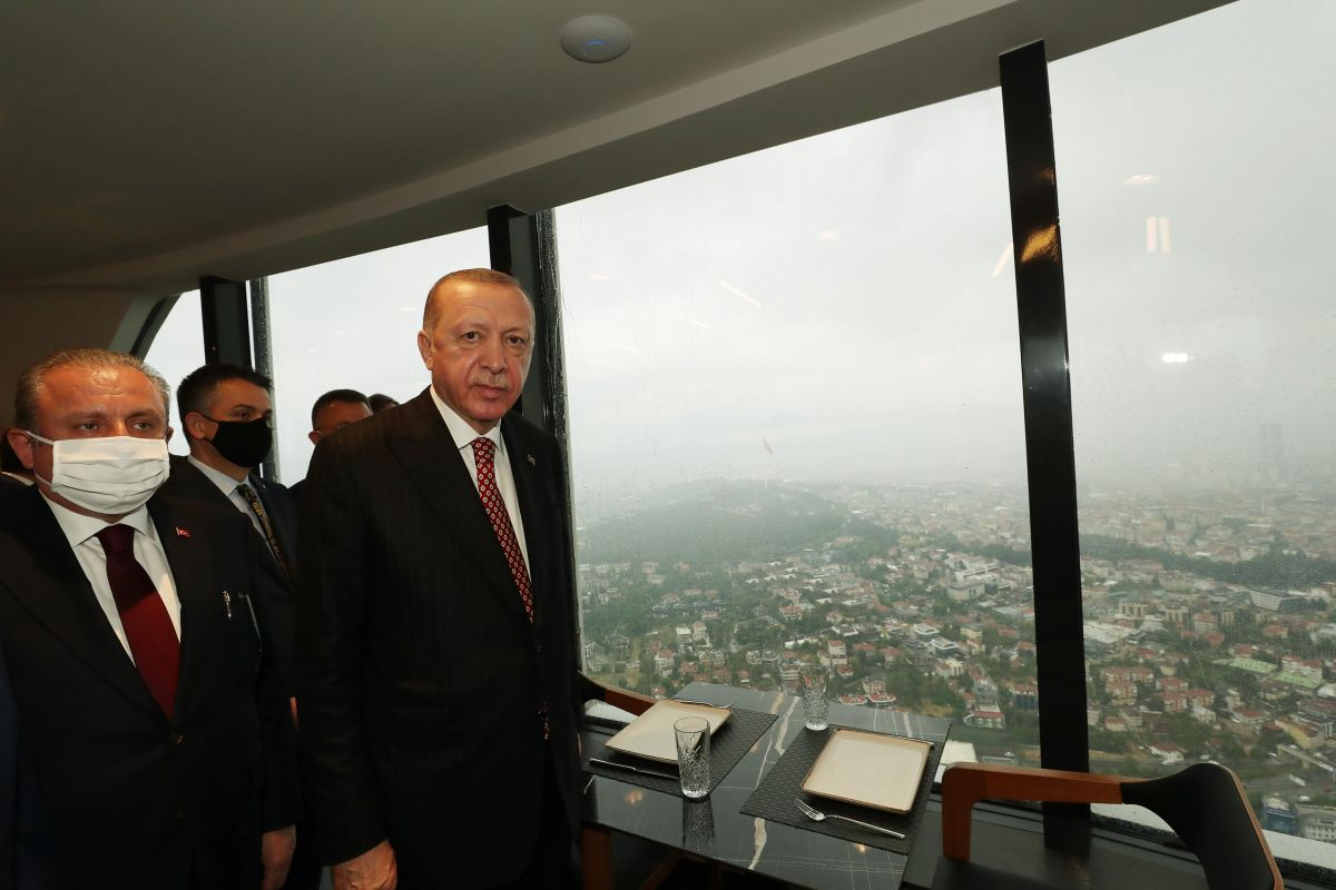 Cumhurbaşkanı Erdoğan, Çamlıca Kulesi ni gezdi #5