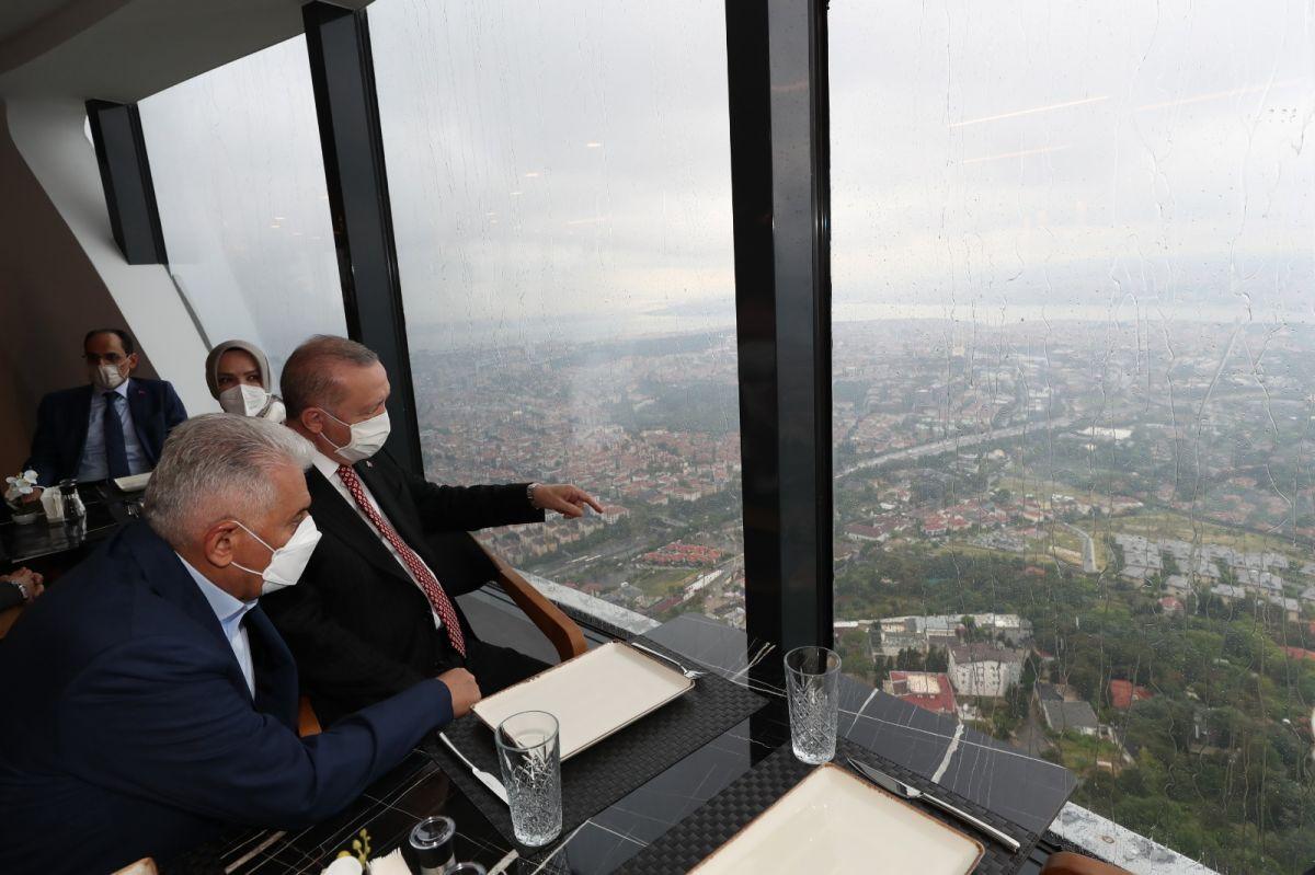 Cumhurbaşkanı Erdoğan, Çamlıca Kulesi ni gezdi #4