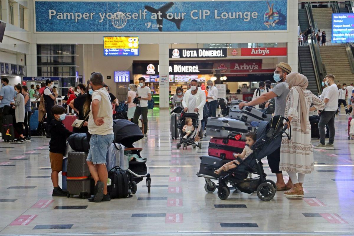 Antalya'ya günlük gelen turist sayısında vaka düşüşü etkisi #8