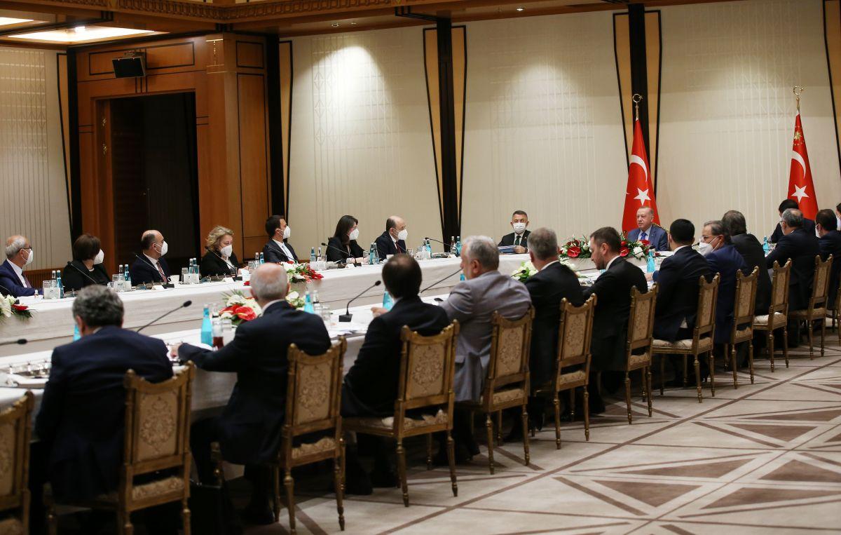 Cumhurbaşkanı Erdoğan dan akademisyenlerle müsilaj toplantısı #1