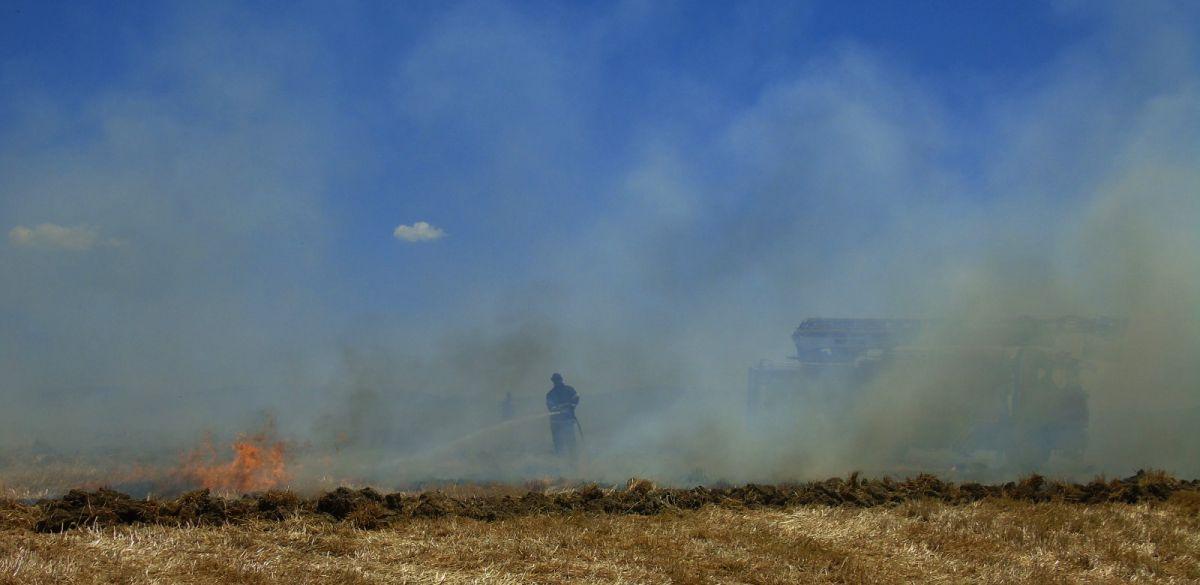 Gaziantep te 70 dönümlük ekili tarla yandı #1