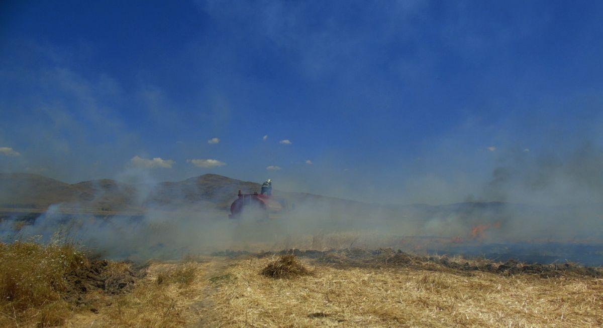 Gaziantep te 70 dönümlük ekili tarla yandı #3