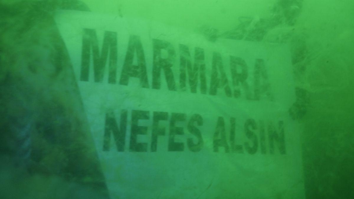 Kocaeli de dalgıçlar, 15 metre derinden Marmara Denizi için haykırdı #1