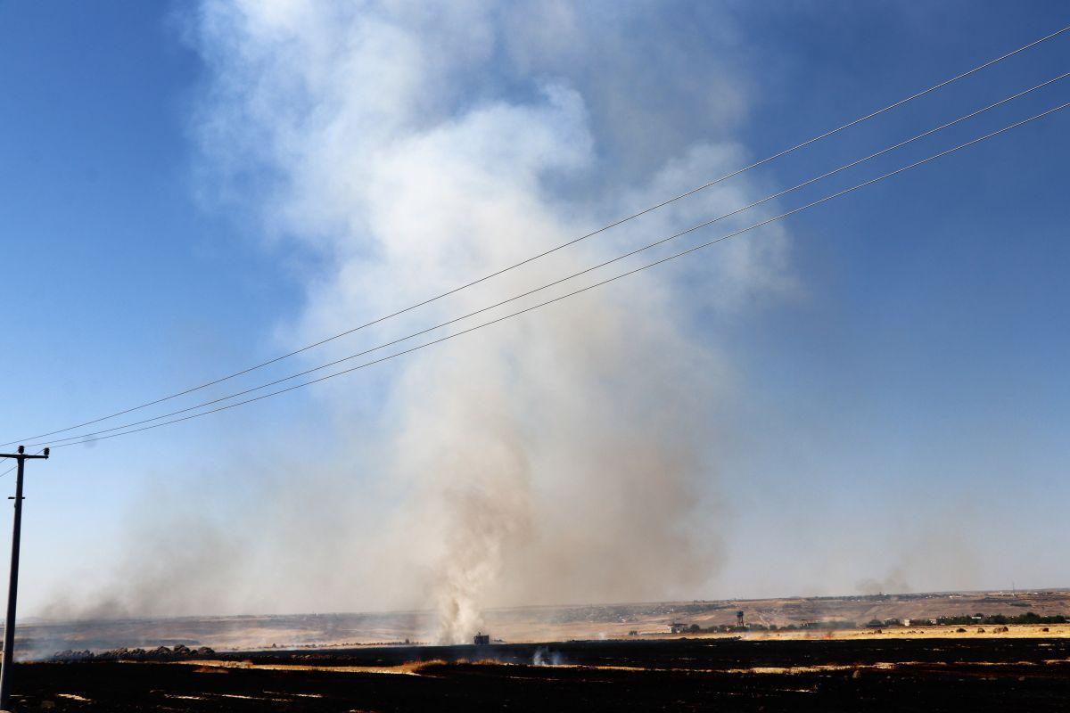 Diyarbakır da havalimanı yakınında anız yangını #3