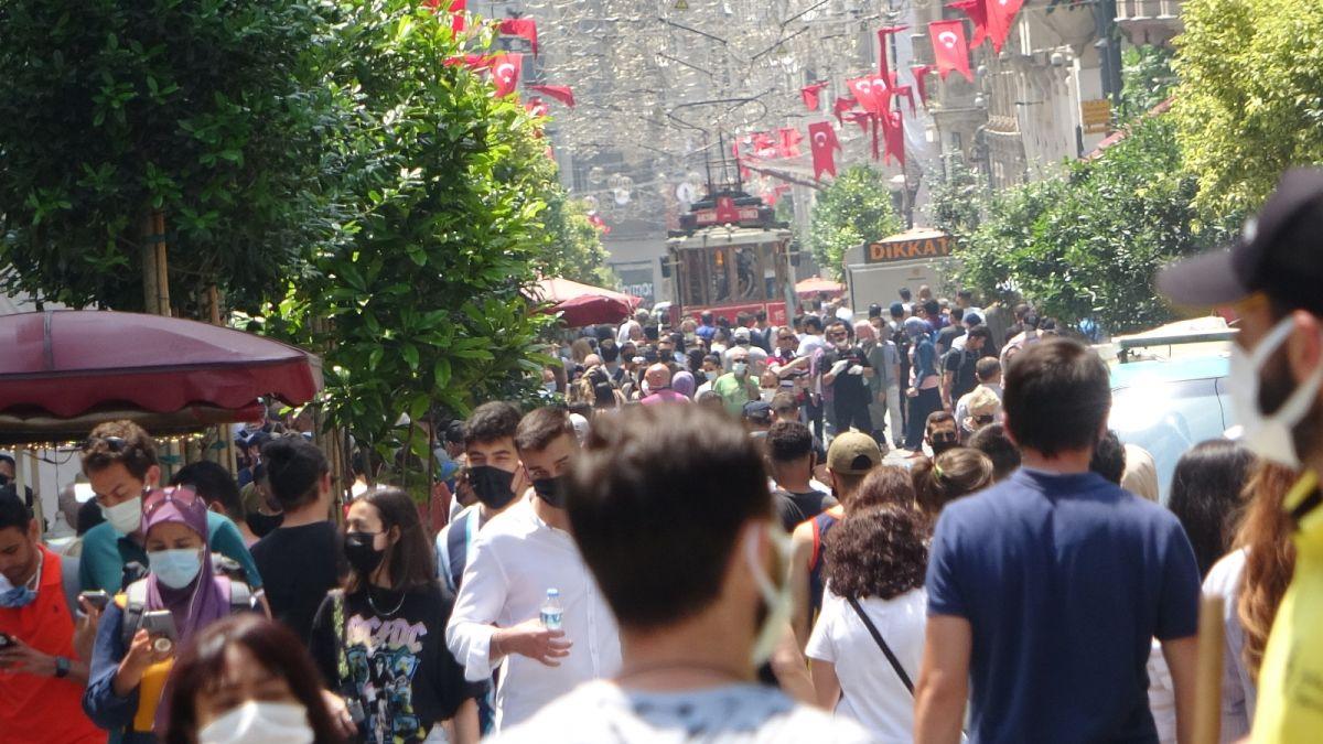 Taksim de pandemi öncesini aratmayan yoğunluk #11