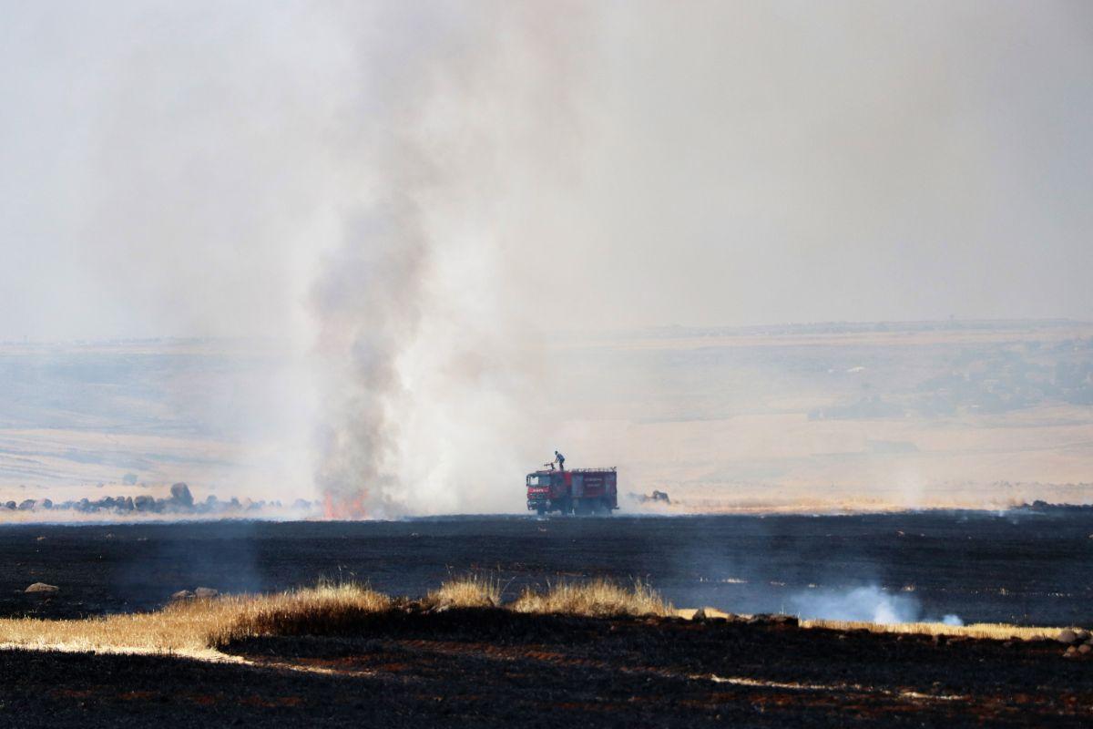 Diyarbakır da havalimanı yakınında anız yangını #4