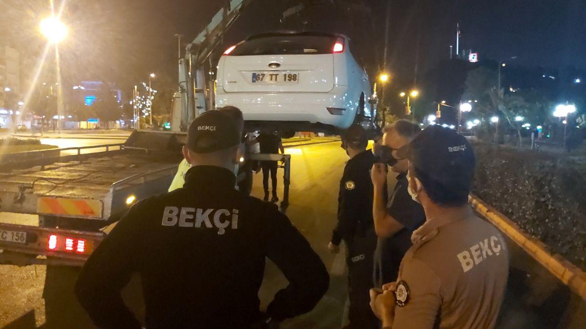 Zonguldak ta polislere hakaret eden şahıs gözaltına alındı #5